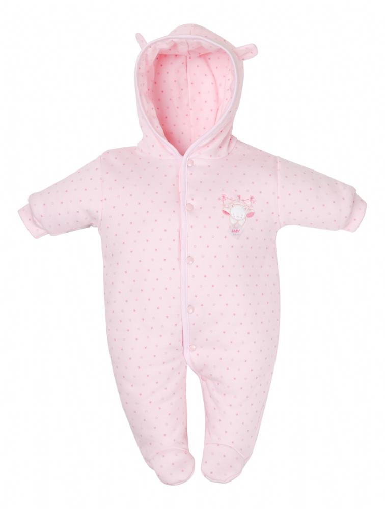 AV1873 New Tiny Hanging baby bear pramsuit (pink)